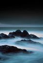 Stormy seascape scottish long exposure Stock Images