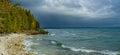 Stormy skies. door county, wisconsin Royalty Free Stock Photo