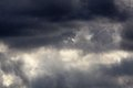 Stormy sky dark and severe weather conditions Royalty Free Stock Photography