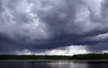 Stormy sky photo of a and a lake Royalty Free Stock Photo