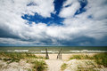 Stormy summer sea beautiful scenic view of baltic Royalty Free Stock Image