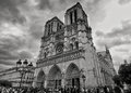 Stormy Views of Notre-Dame Royalty Free Stock Photo