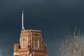 Stormy weather in london threatening sky over st thomas a becket catholic church wandsworth Stock Photo