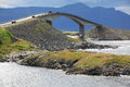 Storseisundet bridge on the atlantic road in norway Royalty Free Stock Image