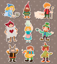Story people stickers Royalty Free Stock Photo