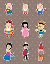 Story people stickers Stock Image