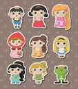 Story people stickers Royalty Free Stock Photos