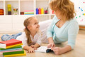Story time with mom Royalty Free Stock Photo