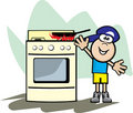 Child safe stove top