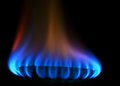 Stove gas fire flame Royalty Free Stock Photo