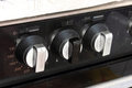 Stove knobs used kitchen cooker Royalty Free Stock Image