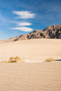 Stovepipe wells death valley desert scene at in mesquite flats Royalty Free Stock Photography