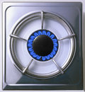 Stovetop gas burner Royalty Free Stock Photos