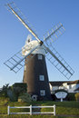 Stow windmill maudsley norfolk england in the village of on the broads in south east Royalty Free Stock Photo