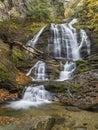 Stowe Moss Glen Falls from Below Royalty Free Stock Photo