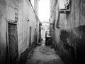 Straßen von altem baku Stockbild