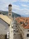 Stradun Dubrovnik Royalty Free Stock Images