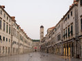 Stradun street in Dubrovnik Royalty Free Stock Photos