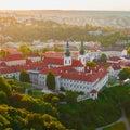 Strahov monastery at sunset, Prague, Czech Republic