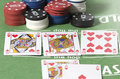 Straight flush in texas hold em poker Stock Photos