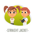 Straight jacket medical concept. Vector illustration.