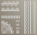 Straight lace set Royalty Free Stock Images