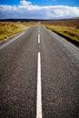 Straight motorway at the scottish highlands scotland uk Stock Images