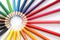 Stralen van kleurenpotloden Royalty-vrije Stock Foto