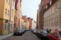 Stralsund germany old street in the hanseatic city lies in northeastern at the baltic sea and the old town is listed as unesco Royalty Free Stock Photography