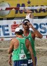Strand-Salve/Ricardo und Emanuel Stockbild