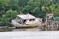Stranded boat Royalty Free Stock Photo