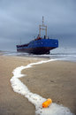 Stranded Ship Stock Photography