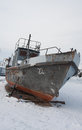 Stranded ship on Baikal Royalty Free Stock Photography