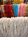 Strands strings of beads necklaces many colorful Royalty Free Stock Photo