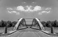 Strange bridge in mirror reflextion lights Royalty Free Stock Image