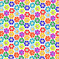 Strange flowers pattern Stock Image