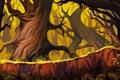 Strange Tree Forest. Royalty Free Stock Photo