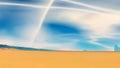 Stranger planet desert and sky d illustration landscape of Stock Photo