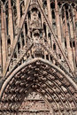 Strasbourg cathedral france alsace details cathedrale notre dame Royalty Free Stock Images