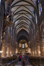Strasbourg cathedral inside Royalty Free Stock Photo