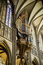 Strasbourg - The cathedral organ Stock Photos