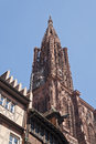 Strasbourg cathedral view of the gothic of Royalty Free Stock Photo