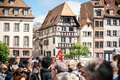 Place kleber gahering political march during a French Nationwide Royalty Free Stock Photo
