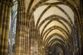 Strasbourg - The gothic cathedral, interior Stock Photo