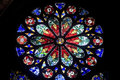 Strasbourg - The gothic cathedral, rose window Royalty Free Stock Image