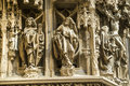 Strasbourg - The gothic cathedral, sculptures Royalty Free Stock Images
