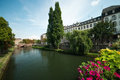 Strasbourg the ill river going through the city of in france Stock Photo
