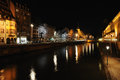 Strasbourg at night Stock Photography