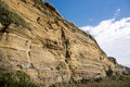Strata within the cliff Royalty Free Stock Photo
