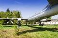 Strategic bomber tu bear old faulty soviet on the former airbase uzin ukraine Royalty Free Stock Photo